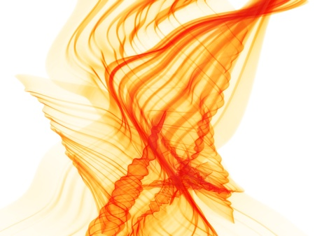 colour images: fire waves