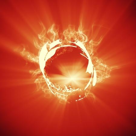 anel de fogo no fundo Imagens