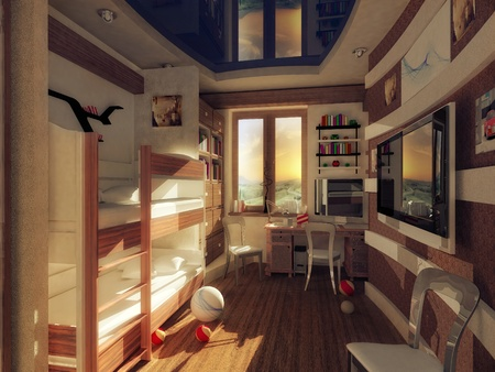 the inter of children s rooms Stock Photo - 15430214