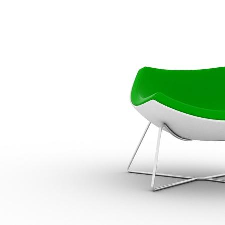 Cadeira verde moderno isolado no branco Imagens