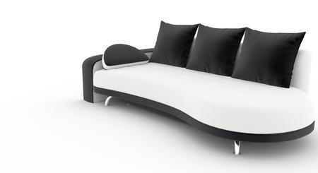 Beautiful contemporary sofa Stock Photo