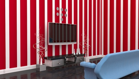 TV room interior Stock Photo - 17021995