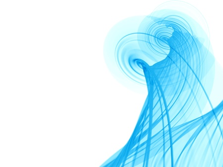viability: Blue abstract wallpaper Stock Photo