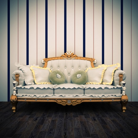 beautiful old retro sofa interior Stock Photo - 17161547