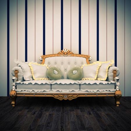 beautiful old retro sofa interior Stock Photo - 17161547