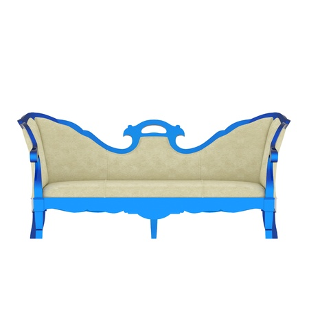 Luxury vintage blue armchair on white background Stock Photo - 17259312