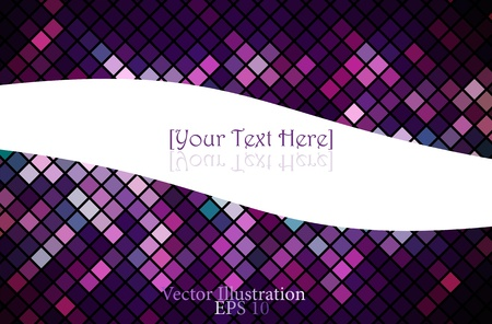 Multicolor abstract lights disco background  Square pixel mosaic vector Vector