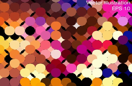 Multicolor abstract lights disco background  Square pixel mosaic   Vector