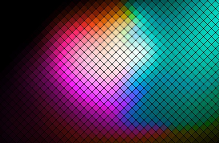 night club: multicolor abstract light disco background square pixel mosaic