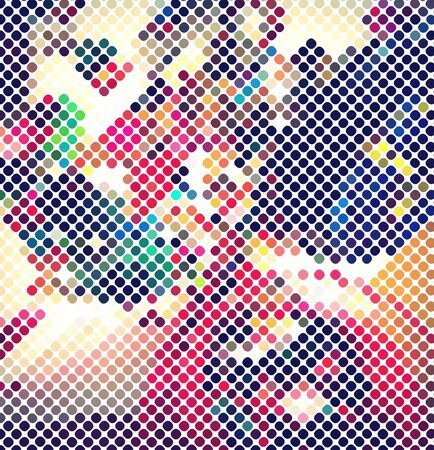 multicolor abstract light disco background square pixel mosaic vector eps 10 Illustration