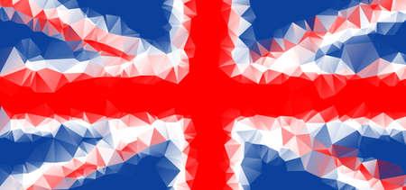 bandera de gran bretaña: bandera de Gran Bretaña Square vector geométrico eps10