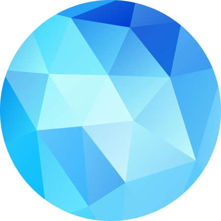 Blue circle Geometric background with gradients lines different color Illustration