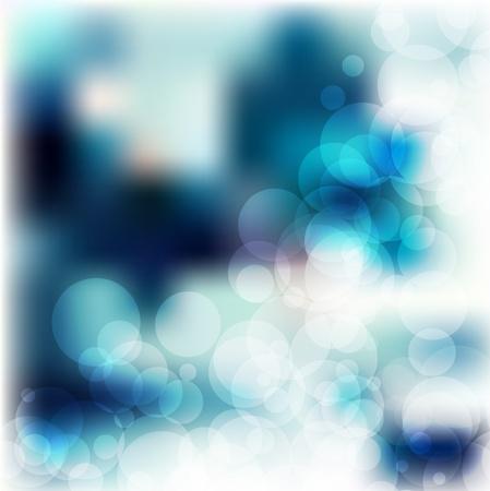 azure bokeh background abstract vector design