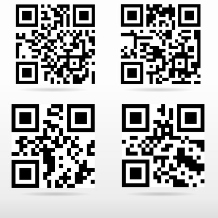 qrcode: compilation sample qr code ready to scan with smart phone