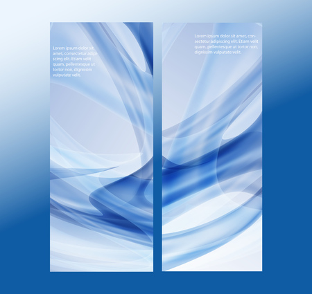 Set of Banners vector illustration abstract lines eps10
