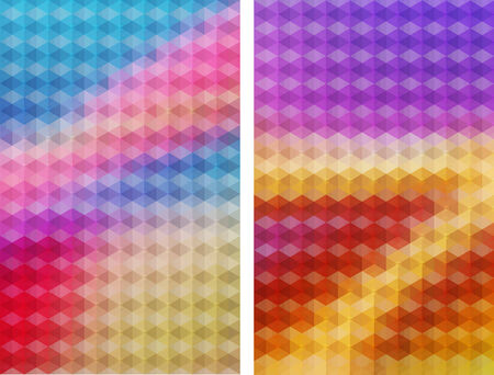 two multicolored hexagons vector geometric background with gradients  lines  different colors pattern eps 10 Vector