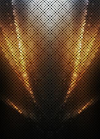 Multicolor luzes abstratas disco background ouro pixel quadrado mosaico vetor eps 10 Ilustração