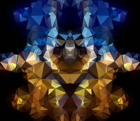 face of robot in geometric styling abstract geometric background  stained-glass window vector eps 10 Vector
