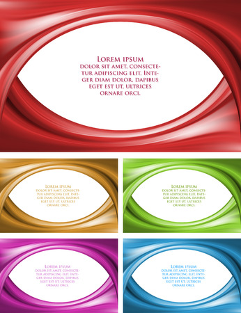 heavenly light: set of beautiful empty frame with sample text gradient line vector background