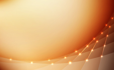 high quality abstract background bright golden lines glowing lights vector illustration Stock Vector - 27342454
