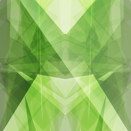 emerald green triangular square background button icon with flare vector abstract