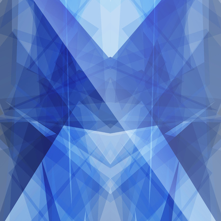 topaz: Topaz blue triangular square background button icon with flare vector abstract