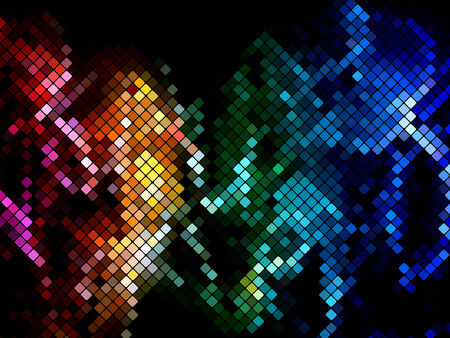 multicolored square club mosaic tile pattern vector illustration