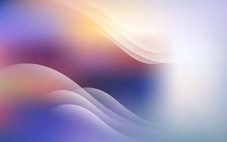 Gentle Background with Light Lines Abstract Vector Illustration