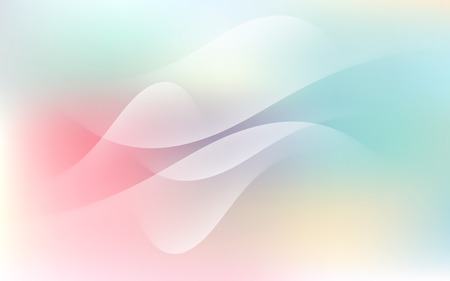 Soft Pastel Light Cloud Waves Sky Background Vector Illustration  イラスト・ベクター素材