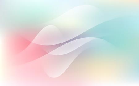Soft Pastel Light Cloud Waves Sky Background Vector Illustration Illustration
