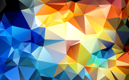 beautiful background geometric styling abstract geometric stained-glass window vector Ilustração