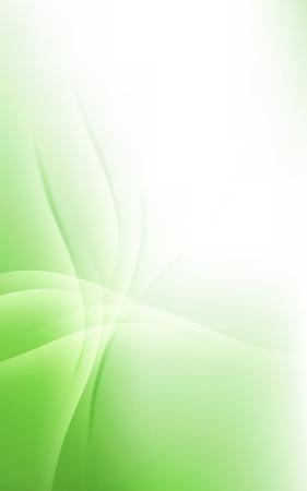 Sunny Green Pale Lines Background Soft Light Cloud Waves Vector Illustration