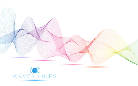 incomparable: colorful wave line bright abstract pattern light illustration Illustration