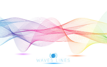 incomparable: colorful gradient light waves line bright abstract pattern illustration Illustration