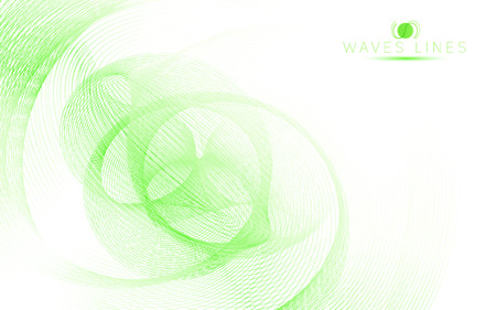 incomparable: green sky soft waves line fractal light abstract background vector Illustration
