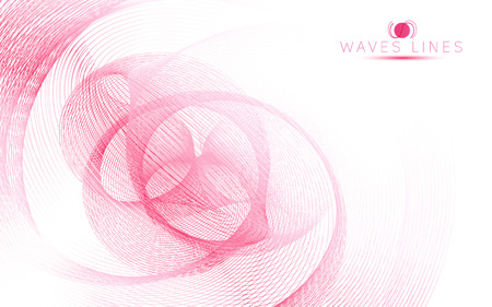 incomparable: pink sky soft waves line fractal light abstract background vector