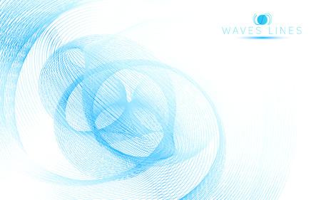 blue sky soft waves line fractal light abstract background vector