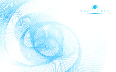 incomparable: blue sky soft waves line fractal light abstract background vector