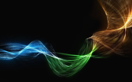 choking: great smoke colored blend waves abstract background Stock Photo