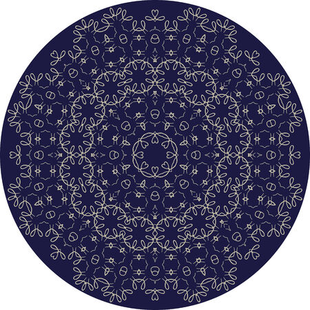 celts: Circle sophisticated symmetric floral pattern in Celts style vector