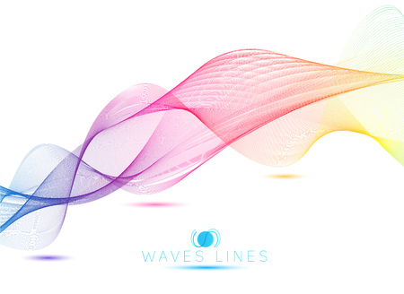 incomparable: rainbow colorful gradient light waves line bright abstract vector Illustration