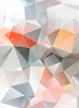 light grunge origami triangle abstract geometric stained-glass window vector Vector