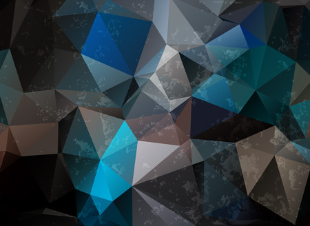 dark grunge origami triangle abstract geometric stained-glass window vector Vector