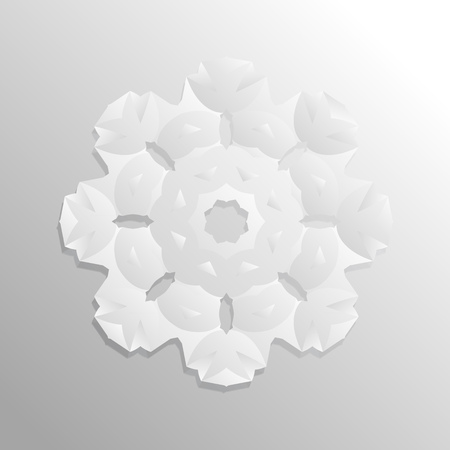 celts: light paper flower long shade square geometric background