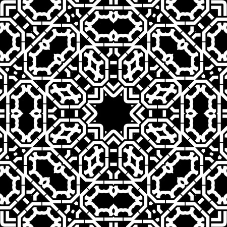 continued: Art White Technical Seamless Pattern Background Vector