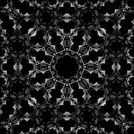 continued: Art Seamless Symmetric Pattern Background Vector