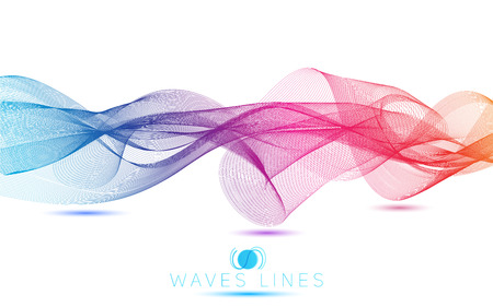 incomparable: abstract blend waves colorful gradient light  lines bright vector
