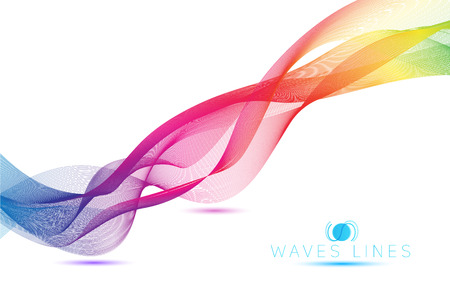 abstract blend colorful waves gradient light  lines bright vector