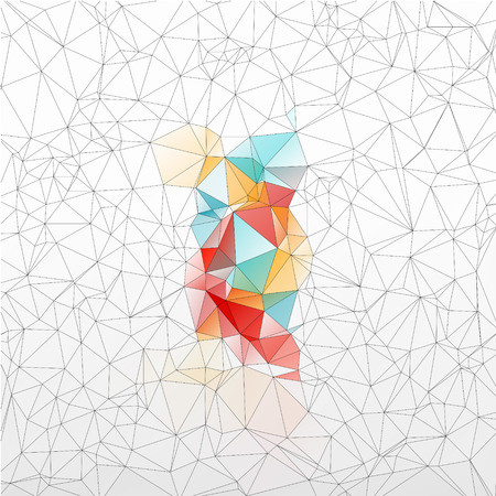 beautiful background geometric styling abstract geometric stained-glass window isolated Vector