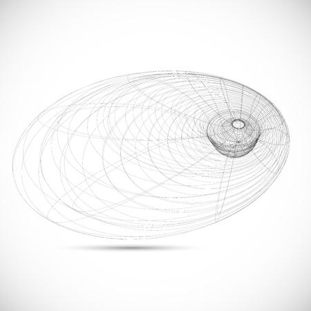 buraco negro campo magnético modelo ícone esboço vector Ilustração